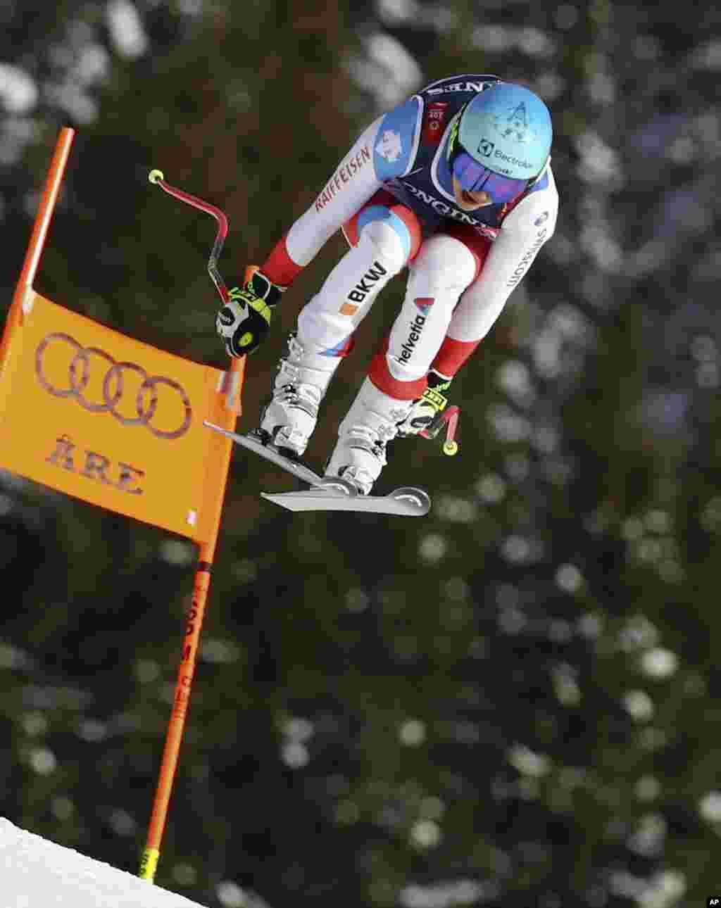 روندی هولدنر، اسکی باز سویسی در مسابقات قهرمانی اسکی زنان در سویدن