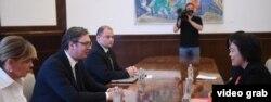 Predsednik Srbije na sastanku sa ambasadorkom Kine (izvor: sajt Predsedništva Srbije)