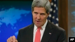 John Kerry talks about Syria and chemical weapons ahead of next week's United Nations General Assembly, Sept. 19, 2013.