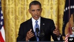 Predsednik Barak Obama na konferenciji za novinare u Beloj kući, poslednjoj u prvom mandatu
