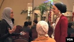 Sebagian perempuan muslim AS yang menghadiri pelatihan Institut Kepemimpinan Muslim Amerika, Universitas South Carolina. (Foto: Dok)