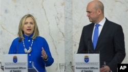 Хиллари Клинтон и Фредрик Рейнфельдт