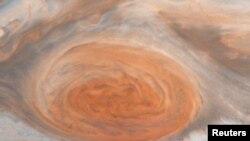 ARSIP – Gambar Great Red Spot, sebuah sistem topan yang kuat dengan lebar ribuan mil, diambil dari sistem pencitraan Galileo.