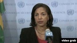 将接任白宫国家安全顾问的美国驻联合国大使(美国之音视频截图)