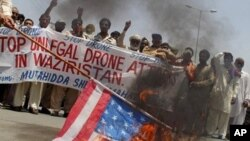 Pakistanis in the Waziristan regiion protest drone strikes in the border regions of Pakistan May 30, 2013.