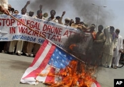 Pakistanis in the Waziristan region protest drone strikes in the border regions of Pakistan, May 30, 2013.