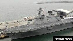 한국 해군의 독도함. (자료사진)