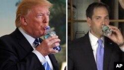 Los medios estadounidenses hicieron comparaciones entre la pausa de Trump para tomar agua con la del discurso de 2013 que el senador de Florida Marco Rubio ofreció después del informe sobre el estado de la nación que dio Barack Obama.