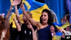 Джамала (Сусана Джамаладинова) на конкурсе в Стокгольме 15 мая 2016