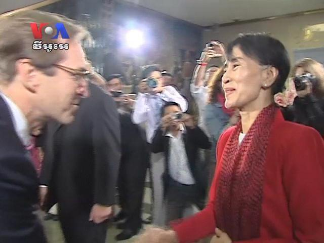 In US, Aung San Suu Kyi Welcomed Warmly (in Khmer)