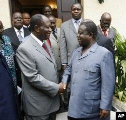 Alassanbe Ouattara and Konan Bedie