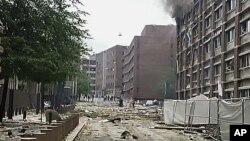 发生爆炸的挪威政府大楼