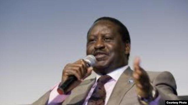 Mgombea urais na Waziri Mkuu aliyepo madarakani Raila Odinga