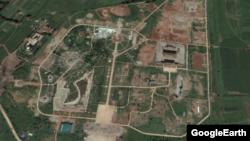 완전히 철거된 평양민속공원의 지난 9월27일자 위성사진. 구글어스 이미지.