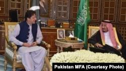 عمران خان شاہ سلمان بن عبدالعزیز کے ساتھ
