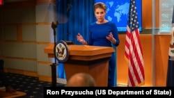 دفتر مورگان اورتگاس سخنگوی وزارت خارجه آمریکا این بیانیه را صادر کرد.