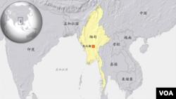 緬甸地理位置圖