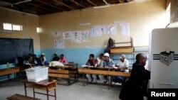 Un bureau de vote à Maseru, Lesotho, le 28 fevrier 2015