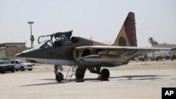 Chiến đấu cơ của Nga tại căn cứ không quân al-Muthana ở Baghdad, Iraq.