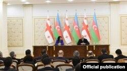 İlham Əliyev və Salome Zurabişvili bəyanatla çıxış edir