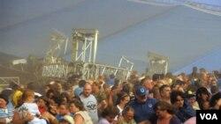 La feria estatal de Indiana fue reabierta este lunes 15 de agosto de 2011, tras el fatídico fin de semana.