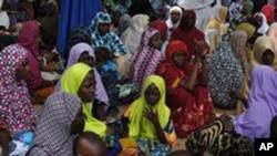 Des déplacés suite à l'attaque de Boko Haram contre Bama