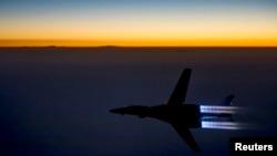 Oanh tạc cơ B-1B Lancer của không lực Hoa Kỳ không kích trở về sau khi không kích Syria