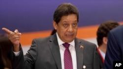 FILE - Venezuelan Oil Minister Asdrubal Chavez led the delegation that met Saudi Deputy Oil Minister Prince Abdulaziz bin Salman and other officials in Saudi Arabia on Tuesday.