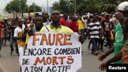Abatavuga rumwe n'ubutegetsi muri Togo biyamiriza intwaro ya perezida Faure Gnassingbé