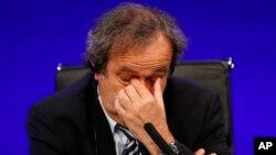 Michel Plaitini, président de l'UEFA en suspension
