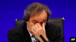 Michel Platini lors de la 37e session ordinaire du congrès de l'UEFA, Londres, 24 Mia 2013
