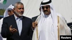 Xamas Bosh vaziri Ismoil Xaniya, Qatar amiri Shayx Xamad bin Xalifa al-Taniy