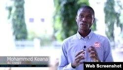 Nhà hoạt động Mohammed Keana.