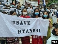 Dân Myanmar: 'Hãy Cứu Myanmar'
