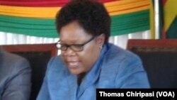 Amai Joice Mujuru, mutungamiri webato reNPP, uye vachamirira mubatanidzwa wePeople's Rainbow Coalition musarudzo