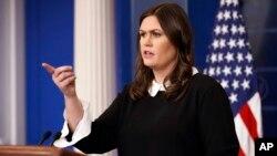 سارا سندرز سخنگوی کاخ سفید.
