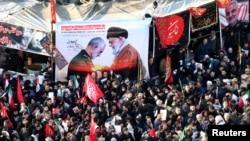 Đám tang tướng Soleimani tại Iran.