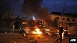 Các cuộc biểu tình biến thành bạo động tại Dakar, Senegal, ngày 31/1/2012