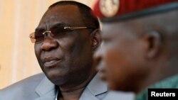Le président Michel Djotodia le 3 décembre 2013 à Bangui.