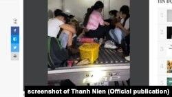 Cảnh sát ở tỉnh Bình Thuận phát hiện 15 người trốn trong 1 xe tai nhằm đi qua trạm kiểm soát dịch, 12/9/2021. Hình minh họa.