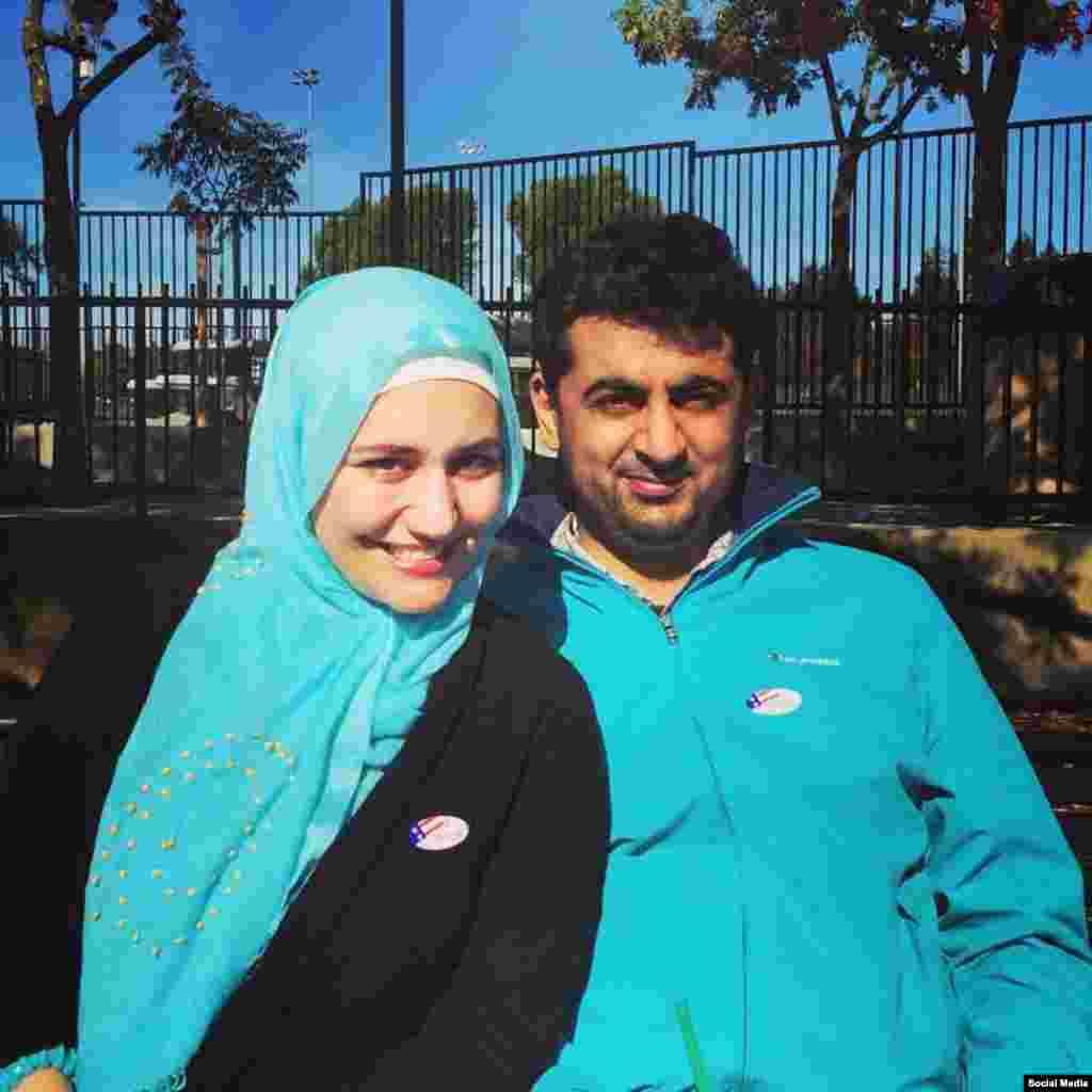 رای گیری انتخابات ریاست جمهوری آمریکا ، در ایالت کالیفرنیا عکس ارسالی: زهرا هاشمی پور