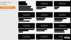 Situs blogging populer Boing-Boing menampilkan laman hitam saat melakukan protes atas RUU Pembajakan online Kongres AS (foto: dok).