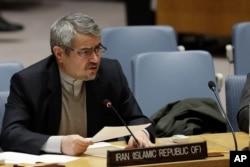 Gholamali Khoshroo, embajador de Irán ante las Naciones Unidas.