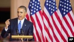Predsednik Obama govori na Kapitol Hilu na ceremoniji povodom 150. godišnjice usvajanja 13. amandmana na Ustav, kojim je ukinuto ropstvo u SAD.