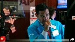 威廉·蓋爾(William Geier)2019年10月2日星期三在紐約證券交易所交易廳工作。