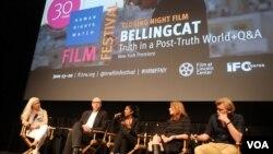 Разговор после фильма в Центре независимого кино в Нью-Йорке. Фото Олега Сулькина.