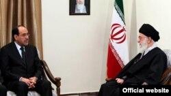 عکس آرشیوی از دیدار نوری مالکی نخستوزیر عراق با رهبر ایران