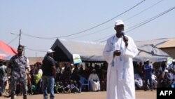 Un dirigeant local lors d'une réunion de l'Union pour la République (UNIR), parti au pouvoir au Togo, dans le cadre d'un événement électoral à Sokodé, le 16 décembre 2018.