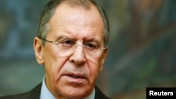 "FILE - Russian Foreign Minister Sergei Lavrov Lavrov says the U.S. and its allies should not reject cooperation with Syria's Bashar al-Assad, contending that Assad ""commands the most capable ground force fighting terrorism."""