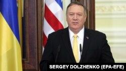 Державний секретар США Майк Помпео від час візиту в Україну 31 січня 2020 року